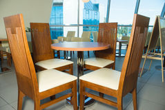 The furniture for cafe. (white chairs Stock Image