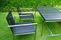 Furniture cafe patio Stock Photography