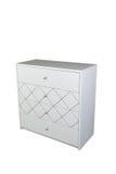 furniture Caixa de gavetas de madeira branca fotografia de stock
