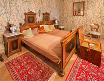 Furniture from 19. cent in palace Saint Anton. Bedroom of guests. Furniture from 19. cent in palace Saint Anton Stock Image
