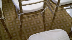 Furniture chairs in hall. At event stock video footage