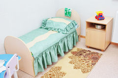 Furniture in a chamber of the children hospital Royalty Free Stock Image