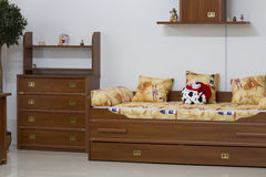 The furniture in the children's room. Wooden furniture in the nursery Stock Image