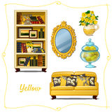 Furniture in classical style, five objects royalty free illustration