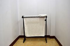 Furniture. Clothes drying indoor ,fabric shower Royalty Free Stock Photos