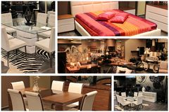 Furniture collage Stock Images