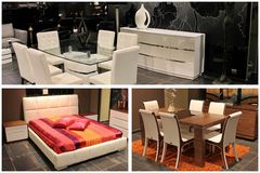 Furniture collage trio Royalty Free Stock Photo