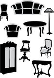 Furniture collection Stock Image