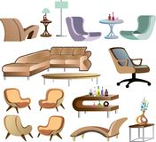Furniture Collection Set vector Stock Photo