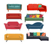Furniture collection. Furniture vector collection in modern and retro style Royalty Free Stock Image