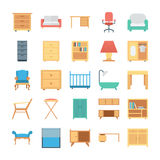 Furniture Colored Vector Icons 1 Stock Images