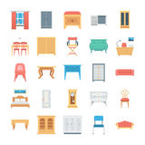 Furniture Colored Vector Icons 8 Stock Photos