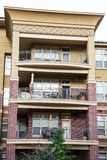 Furniture on Condo Balconies Royalty Free Stock Photos