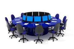 Furniture for conference. Office furniture on white background Stock Photo