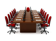 Furniture for conference. On white background Stock Photo