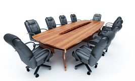 Furniture for a conference of halls Stock Photo