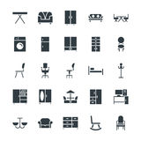 Furniture Cool Vector Icons 2. Here is the collection of furniture. This icons set is composed to everything related to indoor and outdoor furniture. It has royalty free stock photography