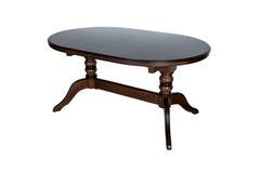 furniture De madeira redonda fotografia de stock