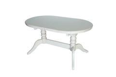 furniture De madeira redonda branco foto de stock royalty free