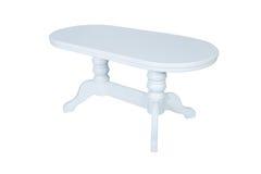 furniture De madeira redonda branco imagem de stock