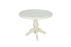 furniture De madeira redonda branco fotografia de stock royalty free