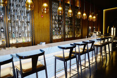 Furniture and  decoration in the bar Royalty Free Stock Photo