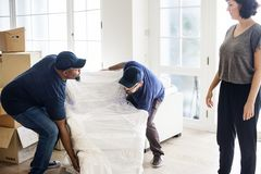 Furniture delivery customer service concept royalty free stock photography