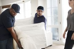 Furniture delivery customer service concept royalty free stock photo