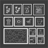 Furniture design,  illustration. Objects icons over gray background,  illustration Stock Photo