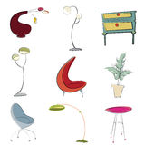 Furniture design vector Royalty Free Stock Photo