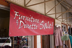Furniture and Dinette Sale Stock Photos