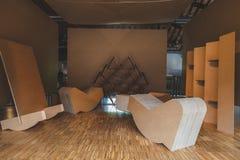 Furniture on dispaly at Fuorisalone during Milan Design Week 201 Royalty Free Stock Photos