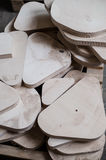 furniture edges and TOOLS. Plywood cuttings for use as textures or background Stock Photo