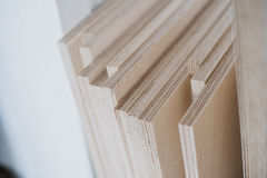 furniture edges and TOOLS. Plywood cuttings for use as textures or background Stock Photography