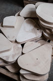 furniture edges and TOOLS. Plywood cuttings for use as textures or background Stock Photos