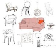 furniture Elemento interior ilustração royalty free
