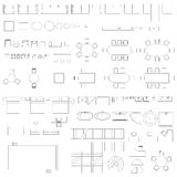 Furniture and elements line symbols Stock Photos