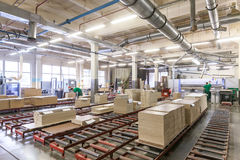 Furniture factory production line Stock Photos