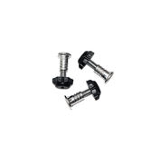 Furniture fittings - screws on white background Stock Photos