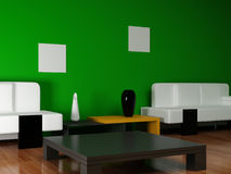 Furniture in a green room Stock Illustration