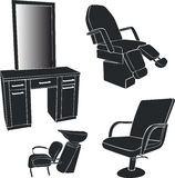 Furniture for hairdressing salons Stock Photography