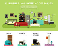 Furniture and home accessories banner. Royalty Free Stock Photography