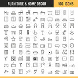 Furniture and home decor icon. Vector illustration. Stock Image