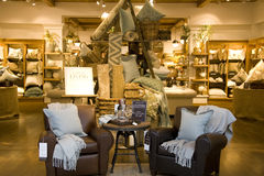 Furniture home decor store stock photos