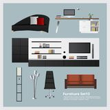 Furniture and Home Decoration Set Stock Photo