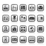furniture and home equipment icons Stock Images