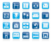 Furniture and home equipment icons Royalty Free Stock Photos