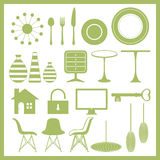 Furniture and home goods icon set Royalty Free Stock Photo
