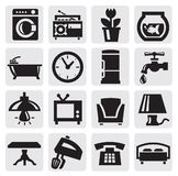 Furniture and home icons Royalty Free Stock Image