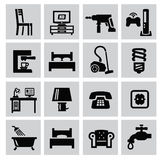 Furniture and home icons Stock Photo